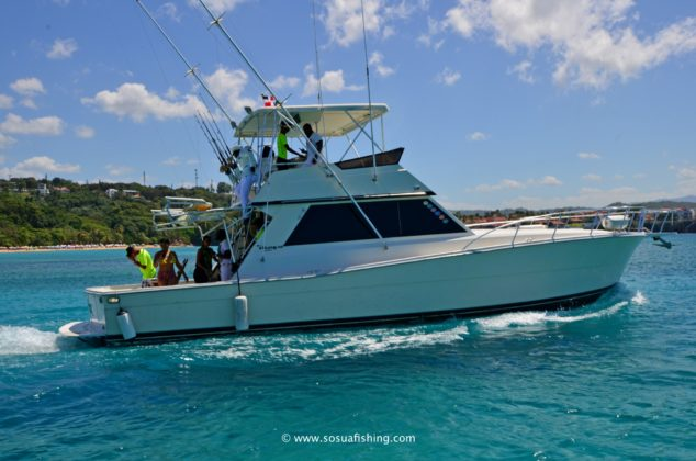The Viking 48 is available for fishing charters off Sosua