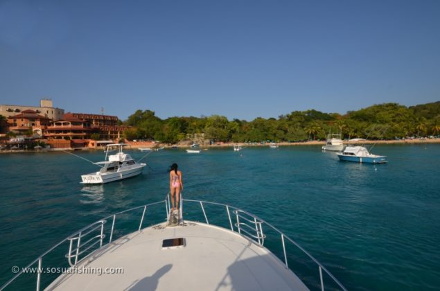 view of Sosua bay from the yacht