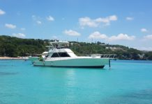 The Viking 48 harbored in Sosua bay