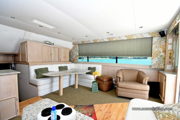 the yacht luxurious living room